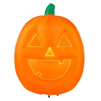 8 ft. Lightshow 2 Face Jack O' Lantern with Micro Lights Airblown Halloween Inflatable