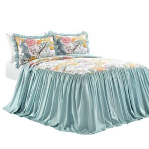 Sydney 3-Piece Blue/Yellow King Bedspread Set