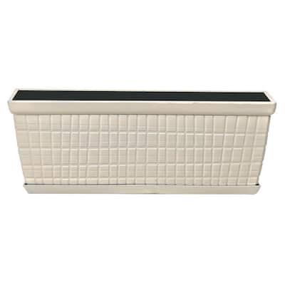 12.60 in. x 4.57 in. Glossy Ivory Plastic Window Box