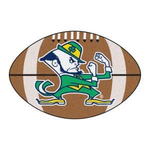 NCAA Notre Dame Irish Logo Brown 2 ft. x 3 ft. Specialty Area Rug