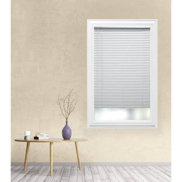 Hampton Bay White Cordless Room Darkening 1 In Aluminum Mini Blind For Window 47 In W X 48 In L 10793478518838 The Home Depot