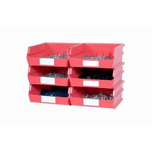 15 in. H x 22 in. W x 11 in. D Red Plastic 6-Cube Storage Organizer