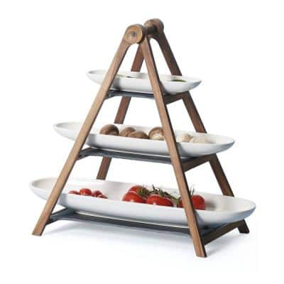 Artesano 4-piece Eye Catcher Tiered Server Set with Bowls