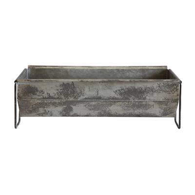 Distressed Metal Decorative Trough