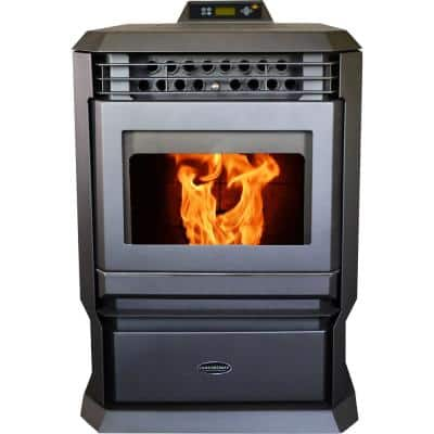 HP61-Charcoal Pellet Stove 3,000 sq. ft. EPA Certified with Programmable Thermostat