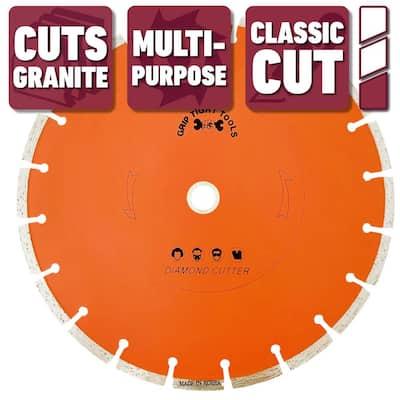 10 in. Classic Segmented Cut Diamond Blade for Cutting Granite, Marble, Concrete, Stone, Brick and Masonry (10-Pack)