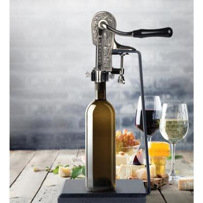 Pewter Connoisseur Wine Opener And Black Granite Stand