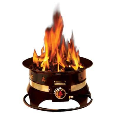 Premium 19 in. Steel Portable Propane Fire Pit with Cover and Carry Kit