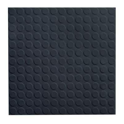 Low Profile Circular Design 19.69 in. x 19.69 in. Black Rubber Tile