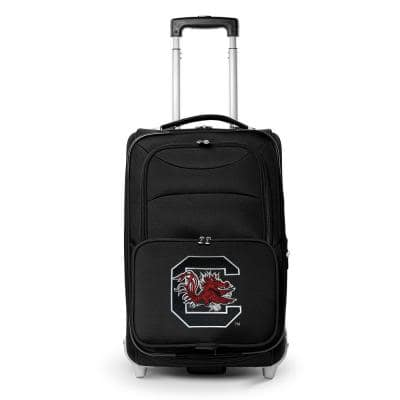 NCAA South Carolina 21 in. Black Carry-On Rolling Softside Suitcase