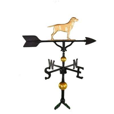 32 in. Deluxe Gold Lab Weathervane