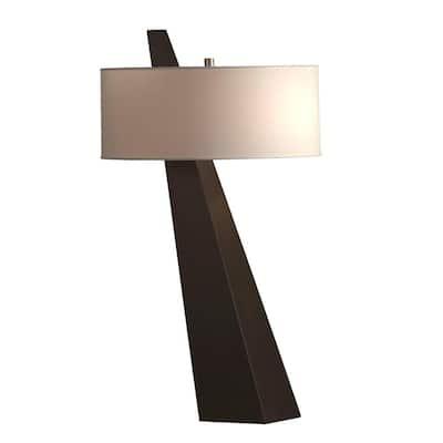 Obelisk 31 in. Chestnut Table Lamp