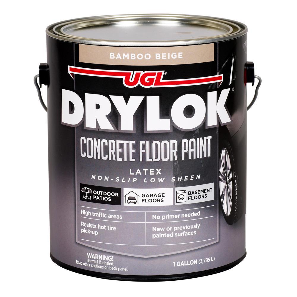 1 gal. Bamboo Beige Concrete Floor Paint