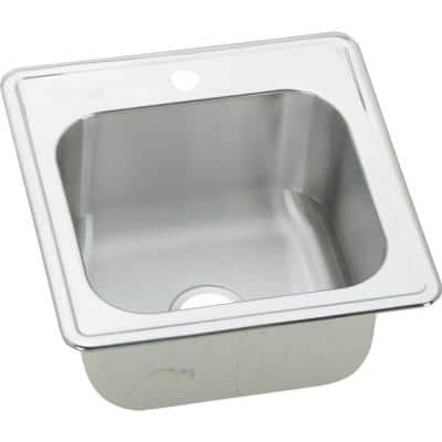 Gourmet Drop-In Stainless Steel 20 in. 1-Hole Single Bowl Kitchen Sink