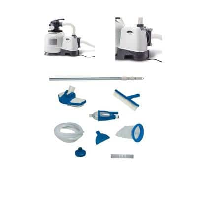 2800 GPH 0 sq. ft. Sand Pool Filter Pump with Cleaning Kit for 800 GPH Minimum (2-Pack)