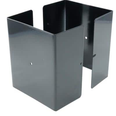 5 in. x 5 in. x 1/2 ft. H Powder Coated Black - Galvanized Steel Pro Series Mailbox and Fence Post Guard