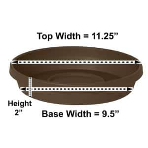 Terra 11.25 in. Chocolate Plastic Plant Saucer Tray