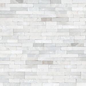 Arctic White Split Face Ledger Panel 6 in. x 24 in. Multi-Finish Marble Wall Tile (6 sq. ft./Case)