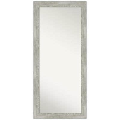 Oversized Distressed Finish Wood Coastal Cottage Rustic Modern Classic Mirror (65.88 in. H X 29.88 in. W)