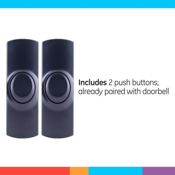 CloverGorge Door Bell Us Plug Receiver Waterproof Plug-in Type Wireless Doorbell White