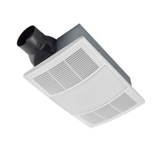 PowerHeat Series 110 CFM Ceiling Bathroom Exhaust Fan with Heater and CCT LED Lighting