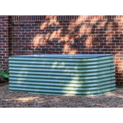 32 in. Extra-Tall 10-In-1 Modular Olive Green Metal Raised Garden Bed Kit
