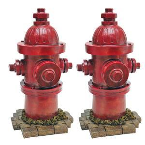 Dog's Second Best Friend Fire Hydrant Statue Set (2-Piece)