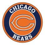 NFL Chicago Bears Navy 2 ft. x 2 ft. Round Area Rug