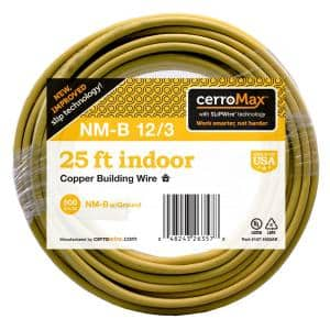 25 ft. 12/3 NM-B Wire, Yellow