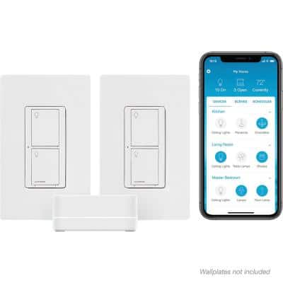 Caseta Wireless Smart Lighting Switch (2 Count) Starter Kit