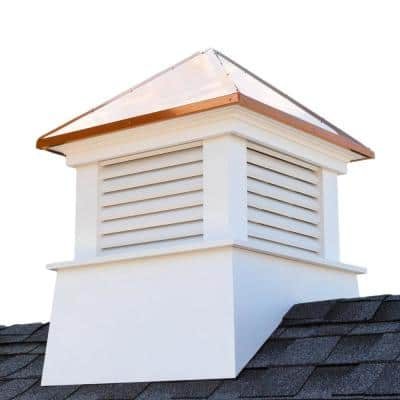 Manchester 18 in. x 22 in. Vinyl Cupola with Copper Roof