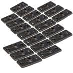 Uncoated Iron Rod Hanger Plate, for 3/8 in. Threaded Rod (20-Pack)