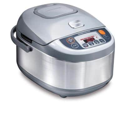 Advanced Multi-Function 16-Cup Stainless Steel Rice Cooker with Fuzzy Logic