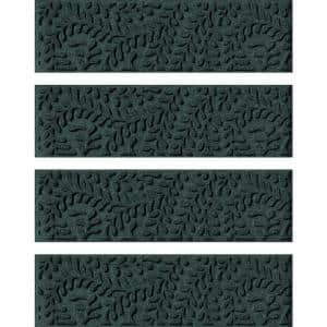 Boxwood  8.5 in. x 30 in. Stair Treads Cover (Set of 4) Evergreen
