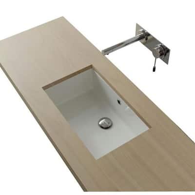 Miky Undermount Bathroom Sink in White