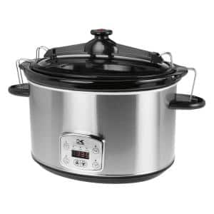 8 Qt. Stainless Steel Slow Cooker with Cool-Touch Handles
