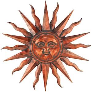 40 in. Copper Patina Sun