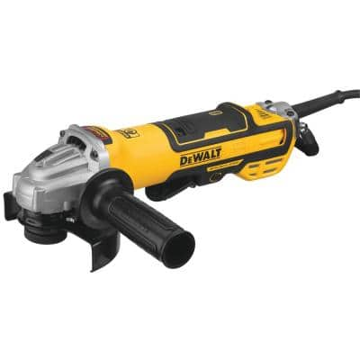 13 Amp Corded 5 in. Brushless Small Angle Grinder with No-Lock-On Paddle Switch and Variable Speed