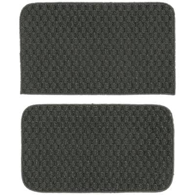 Town Square Cinder Gray 18 in. x 28 in. 2-Piece Rug Set