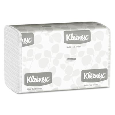 Multi-Fold White Paper Towels 9 1/5 x 9 2/5 (150 Sheets per Pack, 16 Packs per Carton)