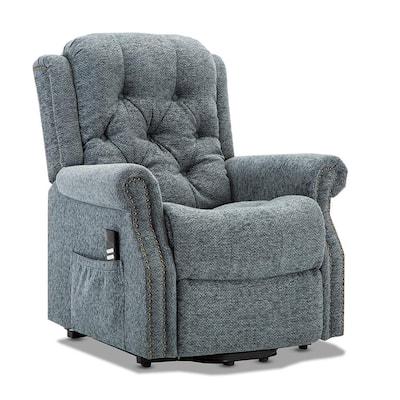 Madison Steel Blue Fabric Lift Chair