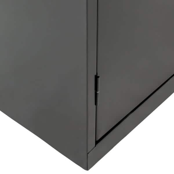 Sandusky Classic Series 36 In W X 78 In H X 24 In D Storage Cabinet With Adjustable Shelves In Black Ca41362478 09 The Home Depot