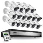 16-Channel 1080p 4TB Hard Drive DVR Security Camera System with 16 Wired Bullet Cameras