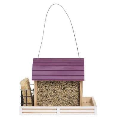 Star Barn Chalet Hanging Wood Bird Feeder - 2 lb. Capacity