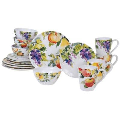 Ambrosia 16-Piece Seasonal Multicolored Earthenware Dinnerware Set (Service for 4)