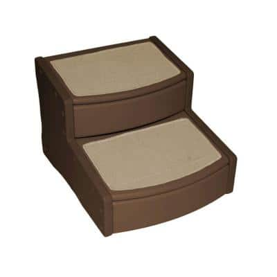 22 in. L x 20 in. W x 16 in. H Extra Wide Easy Steps II in Chocolate