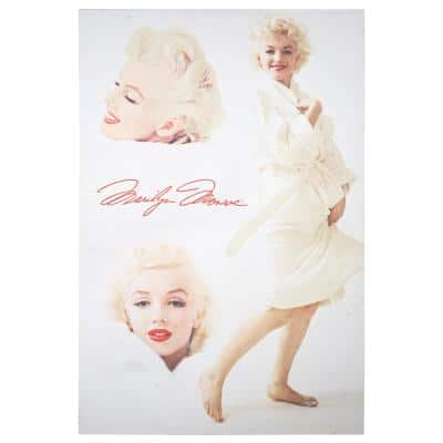 Licensed Marilyn Monroe White Robe Wrapped Canvas Wall Art
