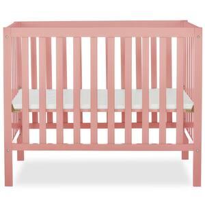 Edgewood 4-in-1 Dusty Pink Convertible Mini Crib