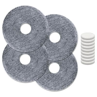 iMop Washable Microfiber Wet Mop Pad Refills and Water Filter Replacements (4-Count, 10-Count)