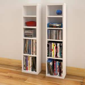 Liber-T White Set of 2 CD/DVD Towers